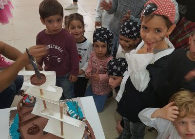 יום הולדת פיראטים - עוגה בהפעלת יום הולדת פיראטים